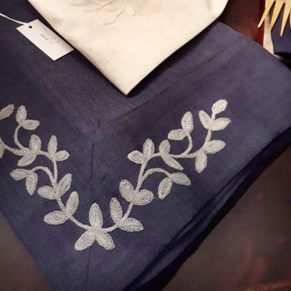 Mantel rectangular azul